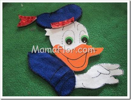 Como hacer la figura del Pato Donald