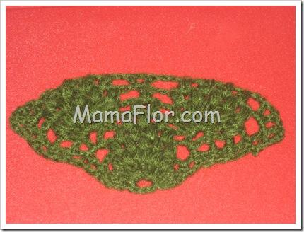 Chal con Diseño de Piñas Tejida a Crochet