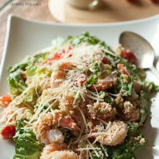 Caesar Salad Recipe with Shrimp & Quinoa