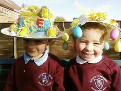 James and Aimee Easter Bonnets