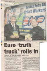 Truth Truck in Nuneaton News