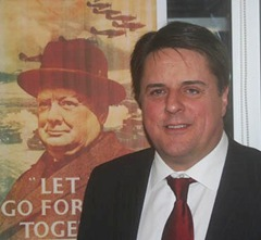 Nick Griffin Winston Churchill picture