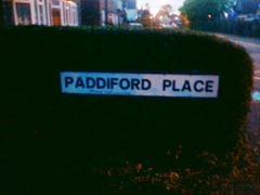 Paddiford Place sign 1