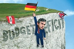 gordon brown budget deficit