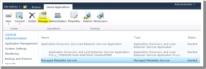 How to Configuration the Managed Metadata Service Application in SharePoint 2010-Part 2