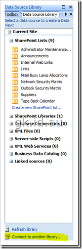 Data View Web Part in SharePoint 2007