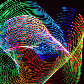 Lights a swirling ! by Jim Barton - Abstract Patterns ( lights, laser light, colorful, light design, lights a swirling, laser design, laser, light, science )