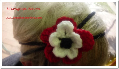 chochet flower headband
