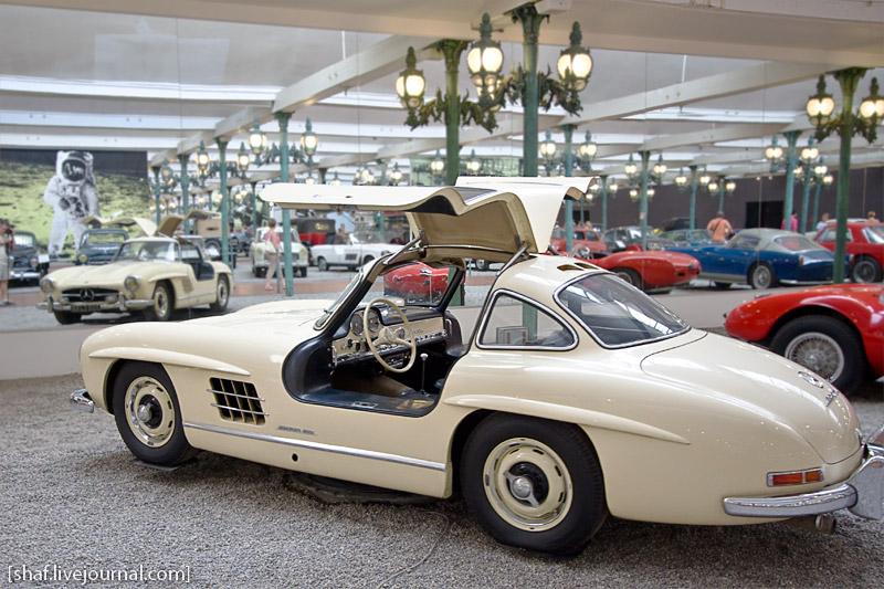 Автомузей; Национальный музей автомобилей, Мюлуз (Mulhouse), Франция; Mercedes-Benz, Coupé 300SL,1955