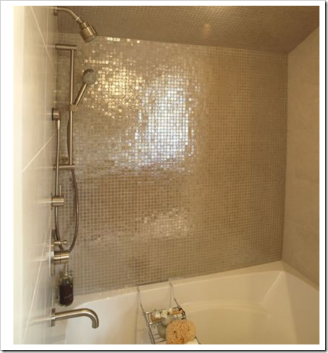 and a serious bling bling mosaic backsplash this is one of my