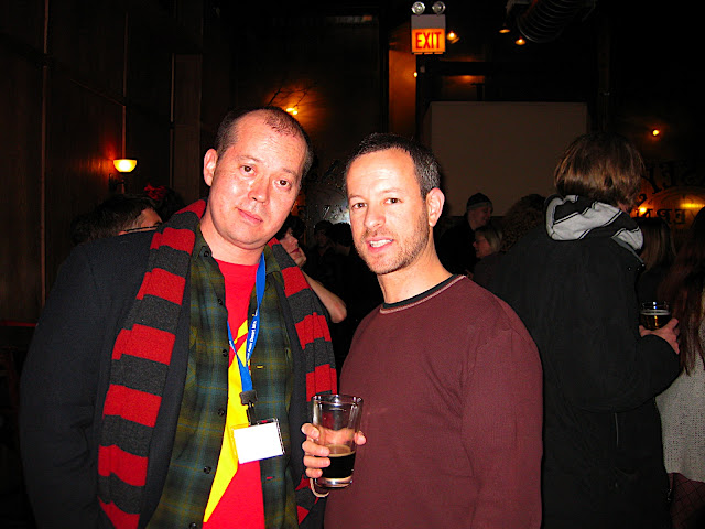Alexander Chee with Rumpus Books editor Andrew Altschul