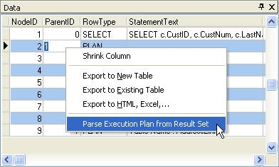 ARC Parse SQL Execution Plan