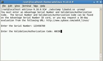 Adsstamp Linux