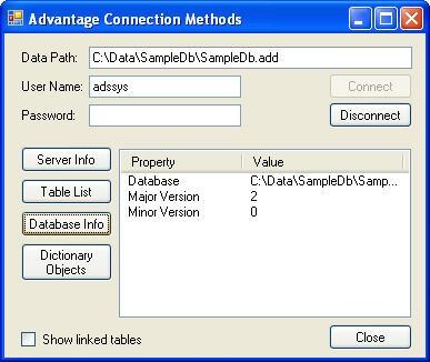 Database Info