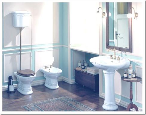 Shabby and charme un bagno nei toni del bianco e azzurro - Arredo bagno shabby ...