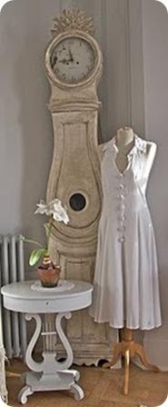 mora clock and handmade dress