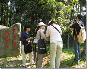 學員進行植物觀察-竹石園
