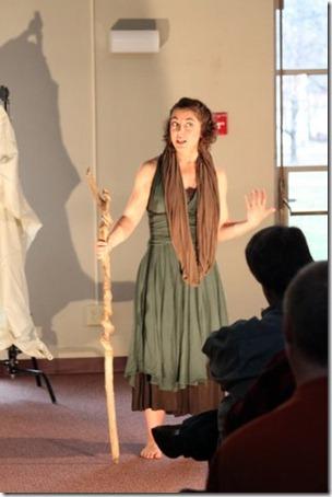 Tevyn East performing at Earlham School of Religion