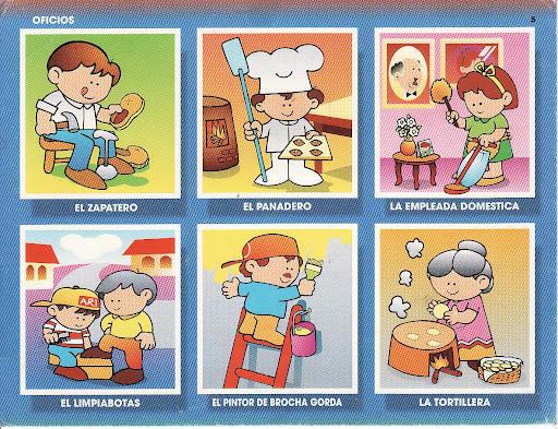 Loteria de oficios y profesiones en inglés para imprimir - Imagui