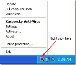 right-click-kaspersky-icon