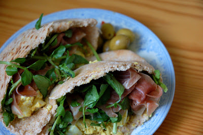 Egg, Cress, and Prosciutto Sandwich