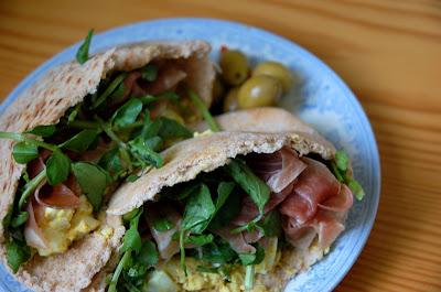 Egg, Cress, and Prosciutto Sandwich