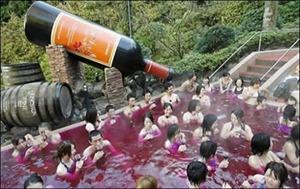 Japoneses criam piscina de vinho, chá, café e chocolate (vídeo)