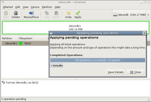 formatirati USB Ubuntu Linux