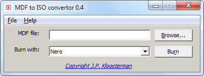 Download besplatni program MDF to ISO Converter