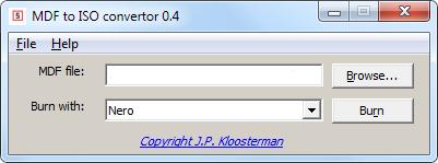Download besplatni program MDF to ISO Converter
