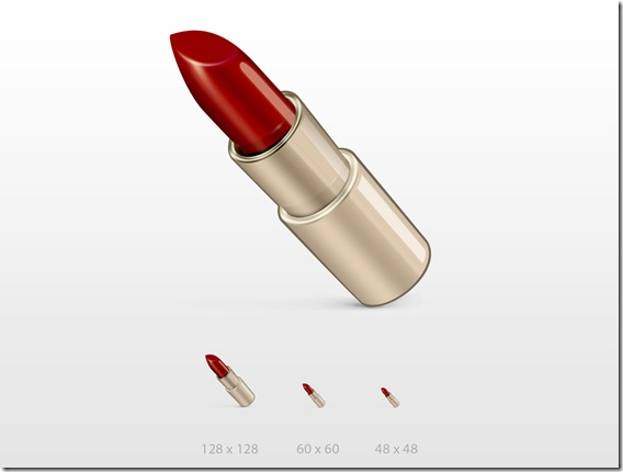 lipstick icon PSD file