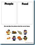 Thanksgiving Preschool Pack Sorting