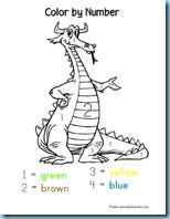 Dragon Color By Number