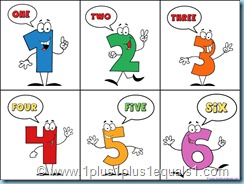 Counting 1 to 10 printables