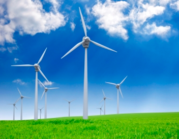 Wind turbines via BlueGreen Alliance