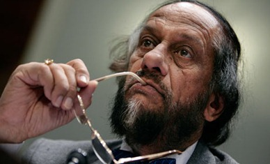 Rajendra Pachauri, the chairman of the United Nation's Intergovernmental Panel on Climate Change. Photograph: Chip Somodevilla / Getty Images