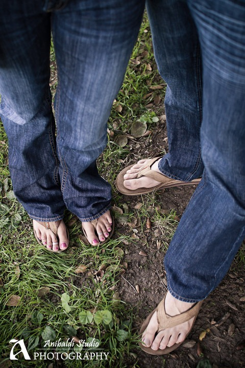 engagement photo of feet