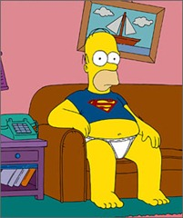 Homer Simpson Superman