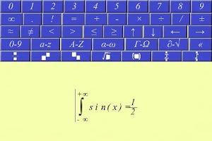 Screenshot of Equation writer.