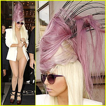 lady-gaga-purple-beehive-hairstyle