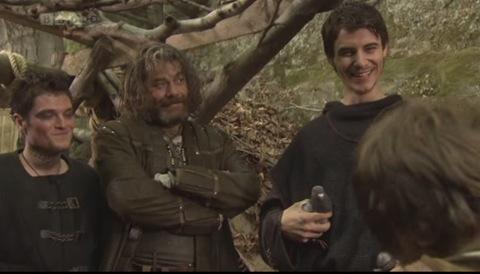 Robin Hood: Lardner's Ring (Mathew Horne as The Fool, Gordon Kennedy as Little John and Harry Lloyd as Will Scarlett)