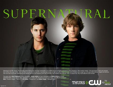 Supernatural season 5 promo Jared Padalecki is Sam and Jensen Ackles is Dean Winchester