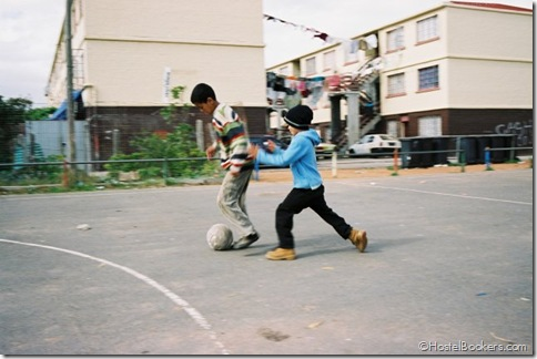 Playing football with local kids, Backpack and Africa Travel Centre