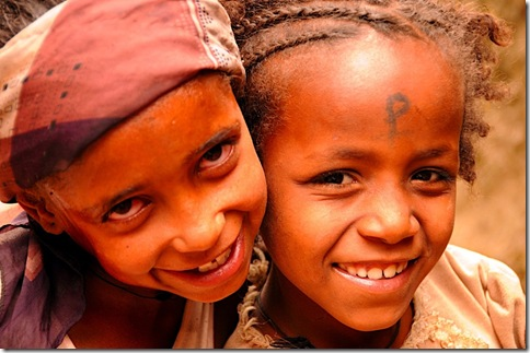 Two girls in Ethiopia