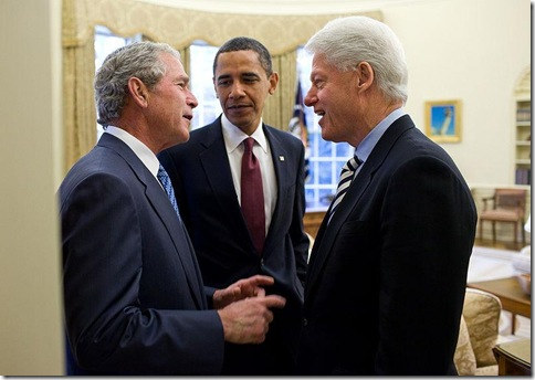 Bush, Clinton and Obama