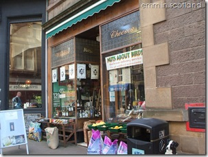 Crieff Whiskies and Cheeses shop