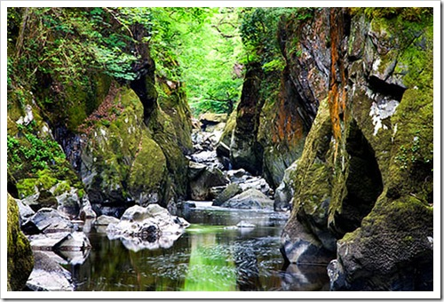 Fairy Glen in Spring Betws y Coed Snowdonia Wales