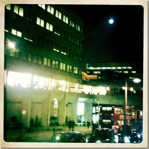 Full Moon Over London Bridge Rail Station