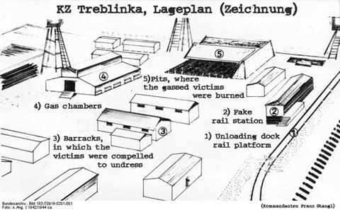 KZ Treblinka, Lageplan