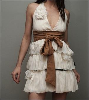 Layered ruffle dress